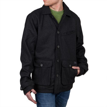 O'Neill - Ahab Heather Black Men's Peacoat Jacket