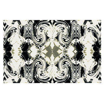 "Dawid Roc ""THe Palace Walls III"" White Abstract Decorative Door Mat"