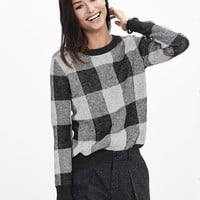 Banana Republic Womens Buffalo Check Sweater Pullover