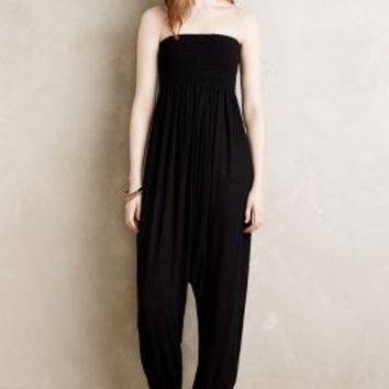 Elevenses Strapless Sarouel Jumpsuit in Black Size: