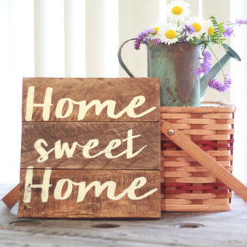 Home sweet home, wood sign, reclaimed wood sign, wooden sign, rustic sign, reclaimed wood wall art, home sign, wood wall art, rustic sign