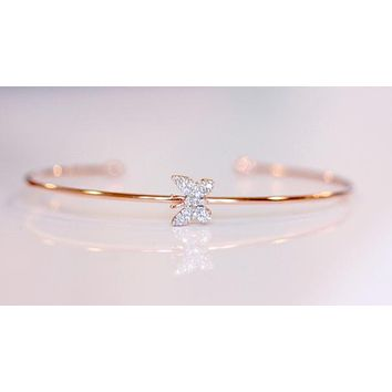 Rose Gold Little Butterfly Bangle - SALE