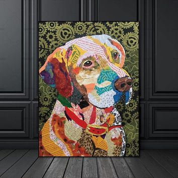 Picture poster and print animal colorful dog Canvas painting  Wall poster decoration for living room wall art picture home decor