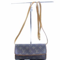 Authentic Louis Vuitton Shoulder Bag PochetteTwin PM M51854 Monogram 261036