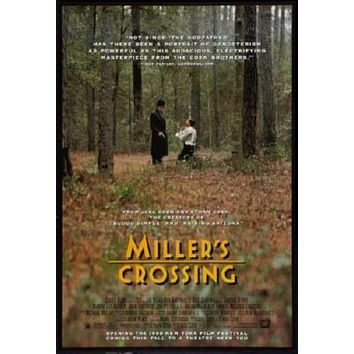 Millers Crossing poster Metal Sign Wall Art 8in x 12in