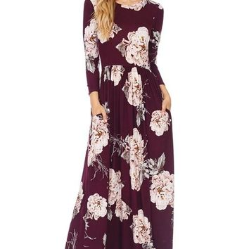 Making Moves Long Sleeve Maxi Dress