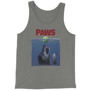Paws Poster Dog With Tennis Ball Jersey Tank Top for Men