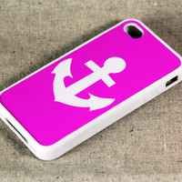 Unique Anchor iPhone 4 iPhone 4S Case, Black Rubber Material Case