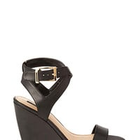 FOREVER 21 Buckled Wedge Sandals