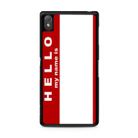Hello My Name Is Sony Xperia Z3 case