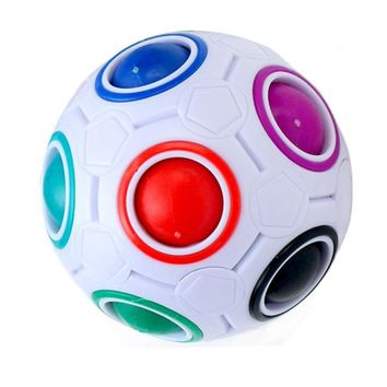 Spherical Cube Speed Rainbow Puzzles Kids Educational Toy