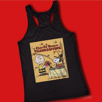 The Peanut Gang Charlie Brown Thanksgiving Women'S Tank Top