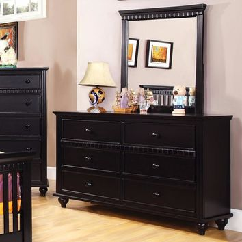 Stunning Wooden Dresser In Transitional Style,  Black