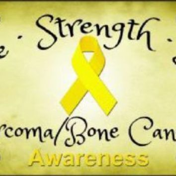 Hope Strength Love Sarcoma Bone Cancer Awareness  License Plate Tag