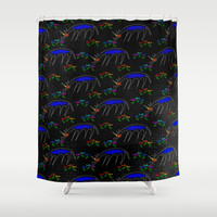 Smell The Flowers Unicorn Shower Curtain by thatssounicorny