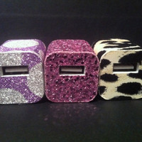Phunkee iPhone Glitter Chargers, Leopard, Plaid, Basketball and many more designs