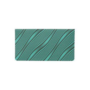 Teal Waves Checkbook Cover