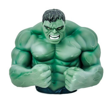The Incredible Green Hulk Bust Statue Money Bank
