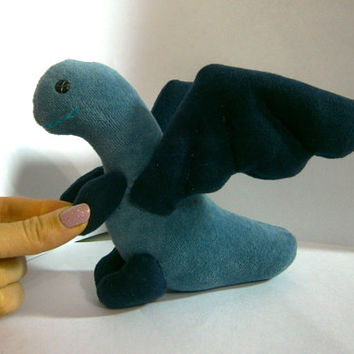 Stuffed Dragon Toy Soft Sculpture, animal textile toys, fabric toy, handmade, favorite toy