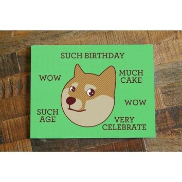 Such Birthday! – Funny Shibe Doge Birthday Card