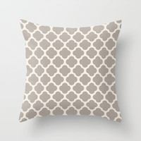 gray clover Throw Pillow by Beverly LeFevre