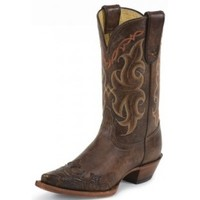 Ladies' Cowboy Boots : Tony Lama Ladies Boots Clay Santa Fe with Tooled Wing Tip