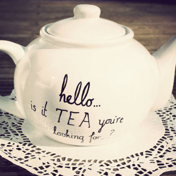 Lionel Richie teapot hand drawn by Mr Teacup by MrTeacup on Etsy