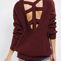 Urban Outfitters - Sparkle & Fade Cross-Back Sweater