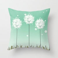 Dandelion Wishes Throw Pillow by Ashleigh Corrin