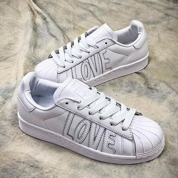 Adidas SUPERSTAR 80s HH W Love AQ6168 Shoes - Sale 2bf9cd0169
