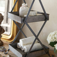 Clara Stand - Toiletry Stand, Hand Towel Holder, Soap Holder | Soft Surroundings