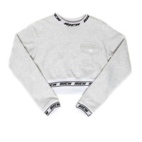 RICH BAND CROPPED CREW / H/GRAY