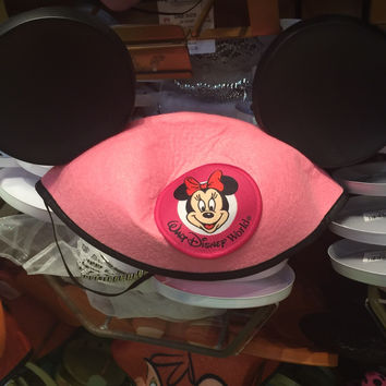 disney parks character ears minnie mouse pink ear hat one size new