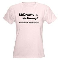 McDreamy vs. McSteamy Women's Pink T-Shirt - CafePress