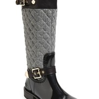 Women's Posh Wellies 'Peacon' Quilted Tall Rain Boot