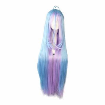 Synthetic 105cm multi-color Long straight hair  Cosplay Wig 100% High Temperature Fiber Hair WIG-558B