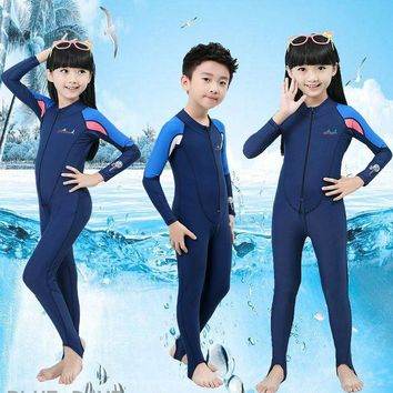 DCCKHG7 Anti UV Sun Protection kids wetsuits boys girls surfing swimming Diving suits Clothing children long sleeve swimwear One-Piece