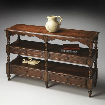 Butler Specialty Tobacco Leaf Sofa/Console Table - 2242228