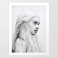 Daenerys | Game of Thrones Art Print by Olechka