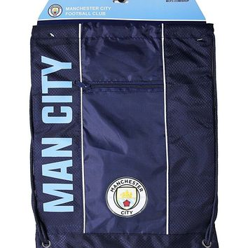 Manchester City Cinch Bag Sack  Soccer Book  Backpack Authentic Official