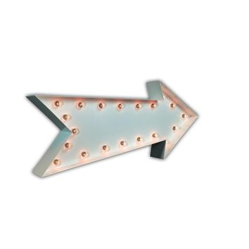 Arrow Vintage Marquee Lights Sign (White Gloss)