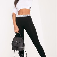 PrettyLittleThing Black Leggings