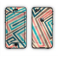 The Retro Colored Maze Pattern Apple iPhone 6 LifeProof Nuud Case Skin Set