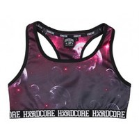 100% Hardcore ladies sport top bubbles pink