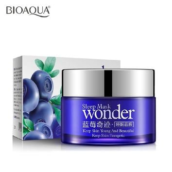 BIOAQUA Wonder natural Blueberry Sleeping Mask for Acne Winter Hydrating Oil Control Bright Skin Keep Young Beauty Energy HOT