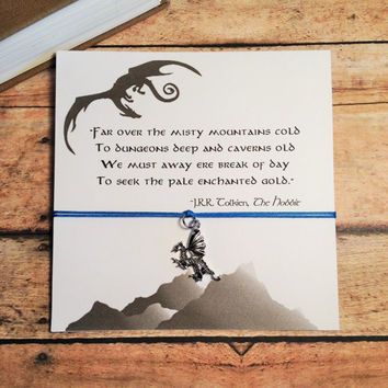 """Hobbit Inspired Dragon Charm Bracelet 