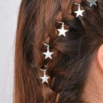Star Shaped Hair Ring Set