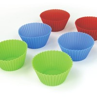 Starfrit Gourmet 80339-006-0000 Set of Six Multicolor Silicone Reusable Muffin Liners