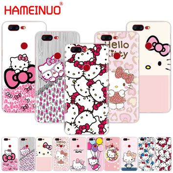 HAMEINUO  Fashionable Hello Kitty cover phone case for Oneplus one plus 5T 5 3 3t 2 X A3000 A5000