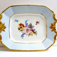 sandwich platter cookie tray shabby chic gold gild floral platter